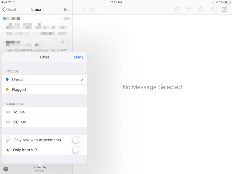 ios 10 one tap filter